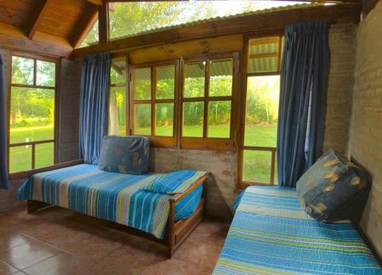 Dormitorio cabañas El Camino Viejo